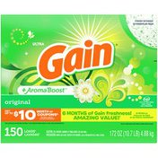 Gain Powder Laundry Detergent For Regular And He Washers, Original Scent