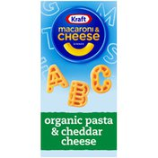 Kraft Macaroni & Cheese Dinner with Organic Pasta Alaphabet Shapes & Cheddar Cheese