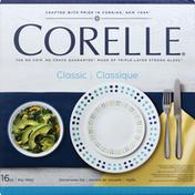 Corelle Dinnerware Set, Classic, Key West, 16 Piece