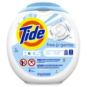Tide PODS Free & Gentle Liquid Laundry Detergent Pacs