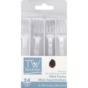 TrendWare Forks, Mini, 4.125 Inch