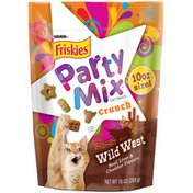 Purina Friskies Made in USA Facilities Cat Treats, Party Mix Crunch Wild West