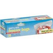 Springfield Snap & Seal Quart Size Freezer Bags
