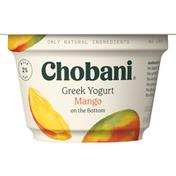 Chobani Yogurt, Greek, Low-Fat, Mango, on the Bottom