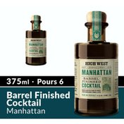 High West Distillery Manhattan Barrel Finished Ready Made Cocktail Whiskey