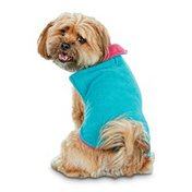 Good2 Go Medium to Large Pink & Teal Cozy Pet Coat