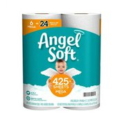 Angel Soft Toilet Paper, 6 Mega Rolls, 2-Ply