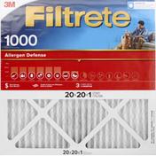 3M Air Filter, Electrostatic, Allergen Defense 1000
