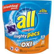 All With Stainlifters Oxi Mighty Pacs Super Concentrated Laundry Detergent