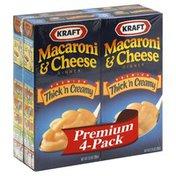 Kraft Macaroni & Cheese Dinner, Thick'n Creamy, Premium 4-Pack