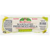 BelGioioso Sliced Cheese, Pesto, Marinated, Fresh Mozzarella