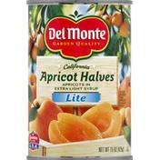 Del Monte Apricot, California, Halves, Lite