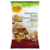 Wild Harvest Pita Chips, Baked, Cinnamon Sugar