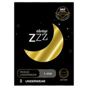 Always Zzz Disposable Overnight Period Underwear For Women Size L