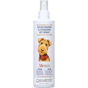 Giovanni Pet Spray, Deodorizing & Finishing, Oatmeal & Coconut