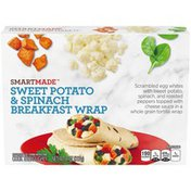 Smart Made Sweet Potato & Spinach Breakfast Wrap with Egg Whites, Peppers & Cheese Sauce Frozen Meal