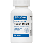 TopCare Mucus Relief, 400 mg, Tablets