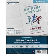 PrintWorks Cardstock, White, Standard
