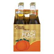 Alpenglow The Sparkling Alternative Sparkling Peach 100% Pure Juice - 4 CT