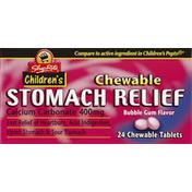 ShopRite Stomach Relief, 400 mg, Chewable Tablets, Bubble Gum Flavor