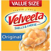 Kraft Shells & Cheese Original Shell Pasta & Cheese Sauce Value Size Meal