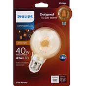 Philips Light Bulb, LED, Amber Light, 4.5 Watts