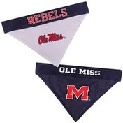 Pets First Extra Large Mississippi Rebels Ole Miss Reversible Pet Bandana