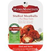 Mama Mancini's Meatballs, Stuffed, with Five Cheese Center