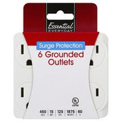 Essential Everyday Outlets, Grounded, Surge Protection