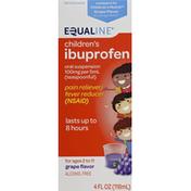 Equaline Ibuprofen, Children's, 100 mg per 5 ml, Oral Suspension, Grape Flavor