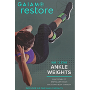 Gaiam Ankle Weights, 5 lb