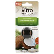 Enviro Scent Car Fragrance Diffuser, Seaside Coconut, Auto Vent Clip