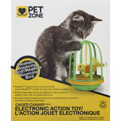 Pet Zone Action Toy, Electronic, Caged Canary