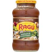 Ragu Sauce, Chunky, Mushroom & Green Pepper