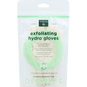 Earth Therapeutics Gloves, Organic, Hydro, Exfoliating