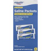 Equate Sinus Wash Refills, Saline Packets