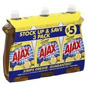 Ajax Dish Liquid, Lemon, 3 Pack
