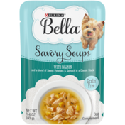 Purina Grain Free Small Breed Wet Dog Food Complement, Savory Soups With Salmon