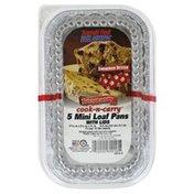 Handi-Foil Loaf Pans, wit Lids, Mini
