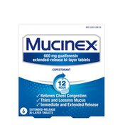 Mucinex® 12 Hr Chest Congestion Expectorant Tablets