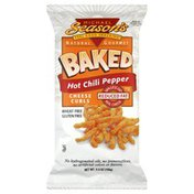 Michael Seasons Cheese Curls, Baked, Reduced Fat, Hot Chili Pepper