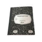 iScholar 100-Sheet Black & White Marble Composition Book