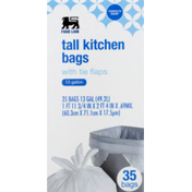 Food Lion Kitchen Bags, with Tie Flaps, Tall