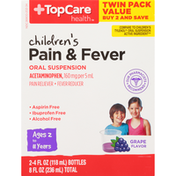 TopCare Children'S Pain & Fever Oral Suspension Acetaminophen, 160 Mg Per 5 Ml, Grape Flavor