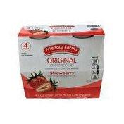 Friendly Farms Original Lowfat Strawberry Yogurt