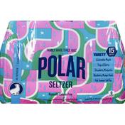 Polar Seltzer, Variety, 15 Pack