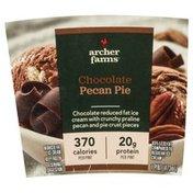 Archer Farms Ice Cream, Reduce Fat, Chocolate, Pecan Pie