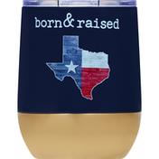 Haven & Key Tumbler, Stemless, Texas Born, 12 Ounce