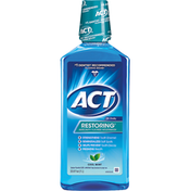 ACT Mouthwash, Anticavity Fluoride, Cool Mint, Restoring