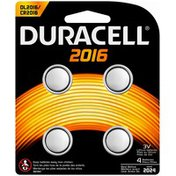 Duracell 2016 Lithium Coin Button Batteries 4 count Specialty Batteries